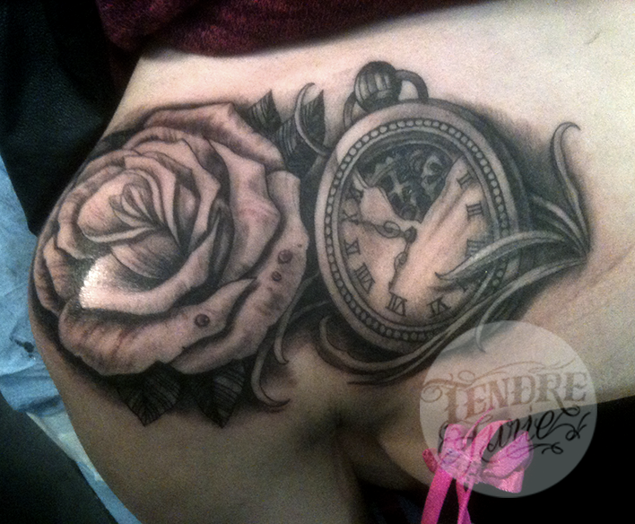 Clock and Rose / Shoulder